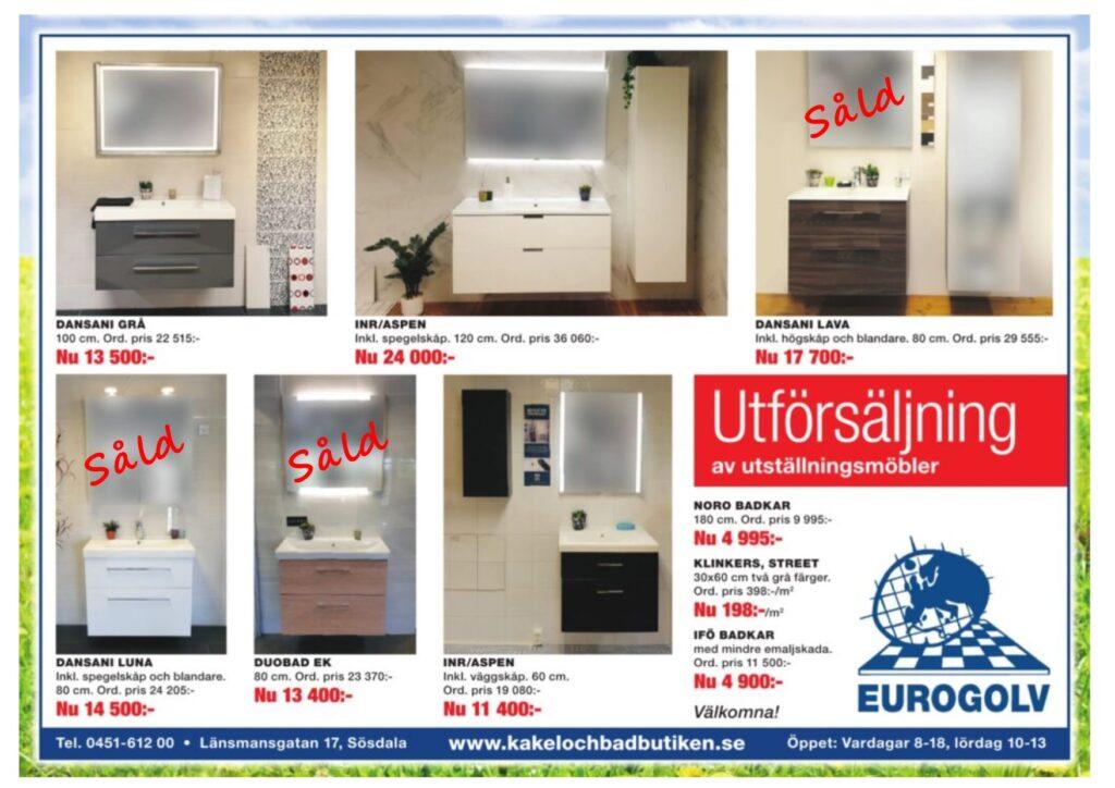 Eurogolv Kakel och Badbutiken REA 2019-05-16