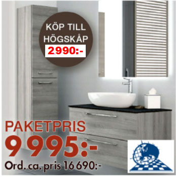 Eurogolv kakel och badbutiken kampanj högskåp Svenska Badrum
