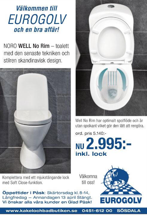Kakel och badbutiken eurogolv noro well no rim rimfree