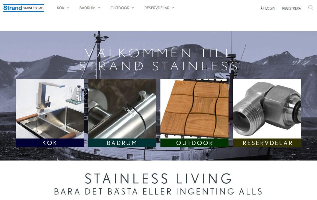 Eurogolv Kakel och Badbutiken Klinker Badrum Strand Stainless Rostfritt