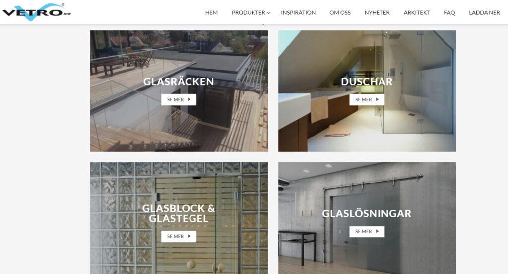 Eurogolv Kakel och Badbutiken Klinker Badrum Vetro Glas Glasblock Dusch