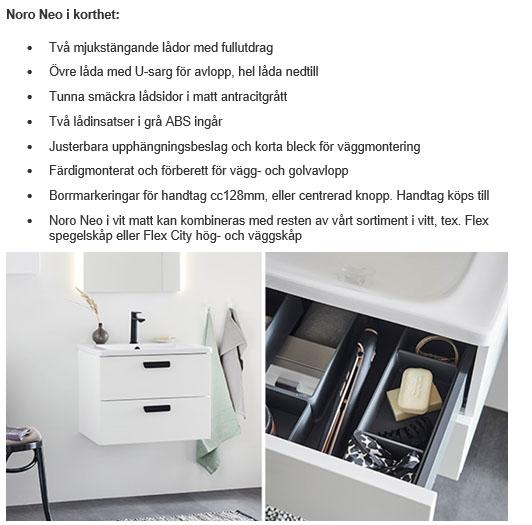 Eurogolv Kakel och Badbutiken Sösdala Nyhet 2021 Noro Badrumsserie NEO 2